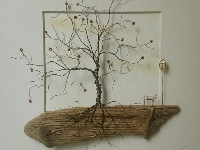 The Stone Art Gallery: Copper Wire Trees