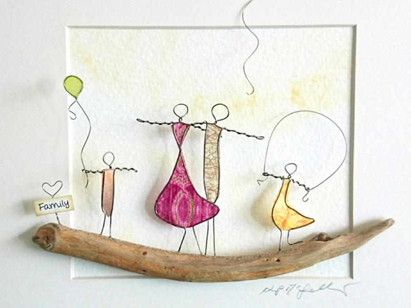 The Stone Art Gallery: Wire Sculptural Pictures